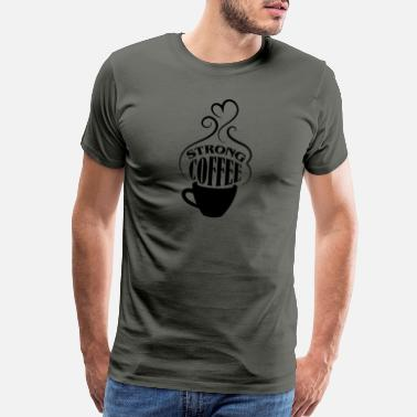 Coffee Bean Strong coffee - Men's Premium T-Shirt