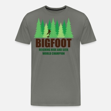 03631ecfadae Bigfoot Sasquatch Hide and Seek World Champion Men's T-Shirt ...