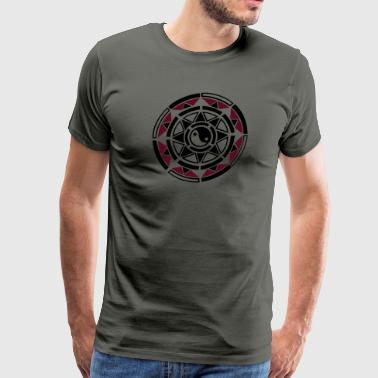Sun, star, yin and yang, Indian Haida Style. - Men's Premium T-Shirt
