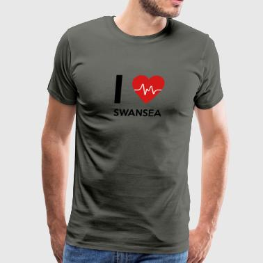 I Love Swansea - Men's Premium T-Shirt