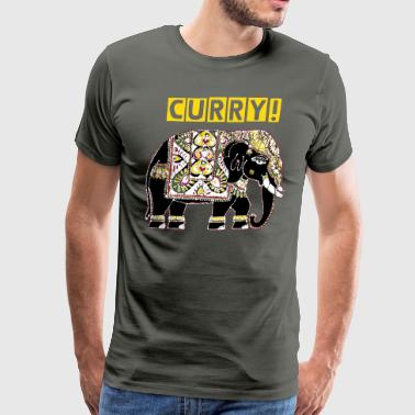 Indian elephant for luck - Men's Premium T-Shirt