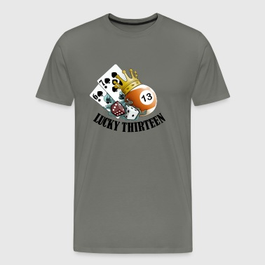 Lucky Thirteen - Men's Premium T-Shirt