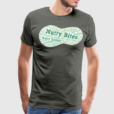 Nutty Bites 100 on Dark - Men's Premium T-Shirt