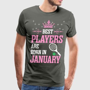 Best Players Are Born In January - Men's Premium T-Shirt