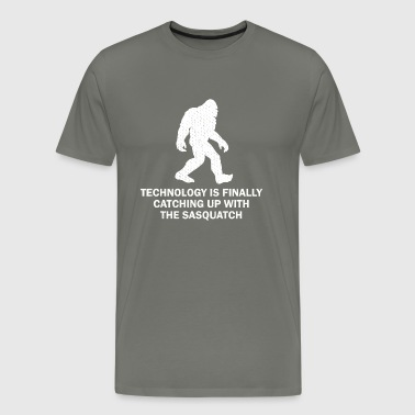 Technology Catching Up With Sasquatch - Men's Premium T-Shirt