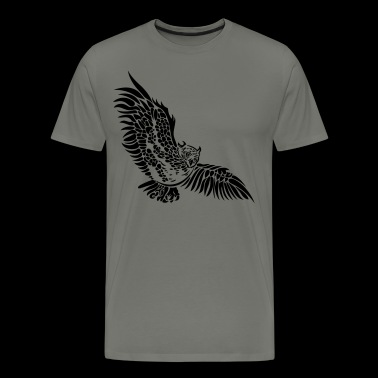 Flying owl with big wings. - Men's Premium T-Shirt