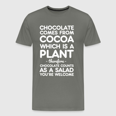 Chocolate Comes from Cocoa which is a plant - Men's Premium T-Shirt
