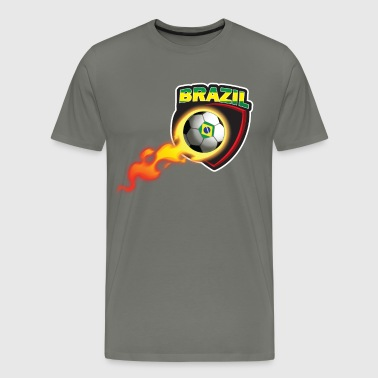 Brazil Soccer Tshirt for Brazilian Fan - Men's Premium T-Shirt