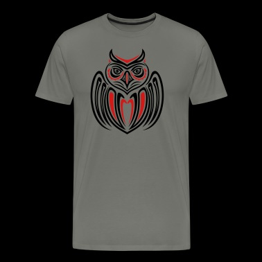 Large owl with wings in Haida Style. - Men's Premium T-Shirt