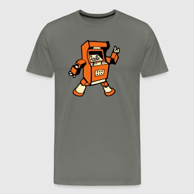 gaming robot geek - Men's Premium T-Shirt