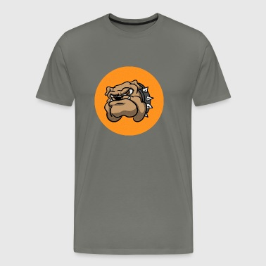 Fun Angry Bulldog - Men's Premium T-Shirt