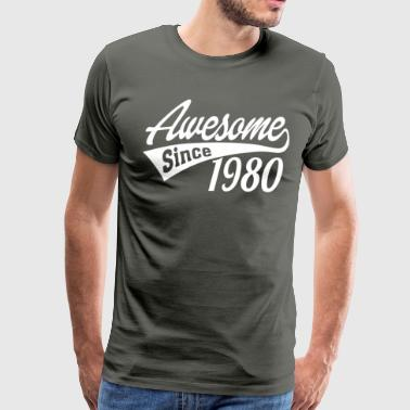 Awesome Since 1980 - Men's Premium T-Shirt