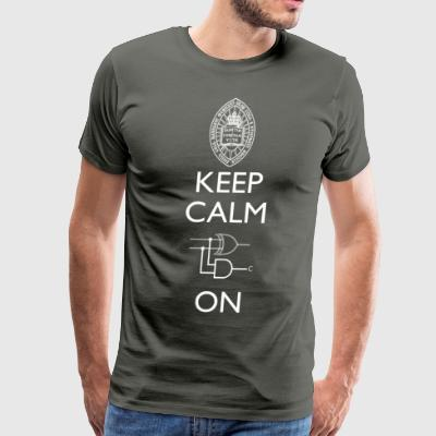 Keep Calm and Carry On T Shirt - Men's Premium T-Shirt