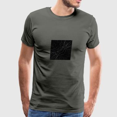 abstract-black-waves digital painting - Men's Premium T-Shirt