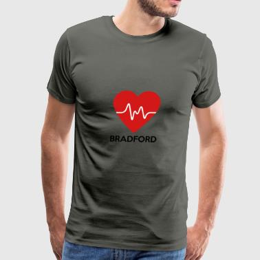 Heart Bradford - Men's Premium T-Shirt