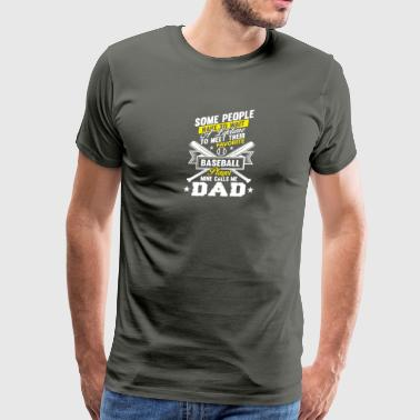 Favorite Softball Player Mine Calls Me Dad T Shirt - Men's Premium T-Shirt