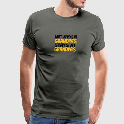 What Happens At Grandpa's - Men's Premium T-Shirt