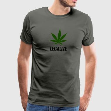 TIME TO LEGALIZE MARIJUANA - Men's Premium T-Shirt