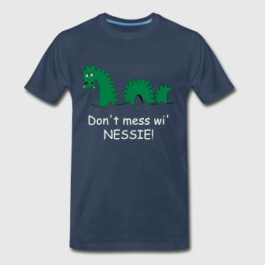 Loch Ness Monster, affectionately known as Nessie! - Men's Premium T-Shirt