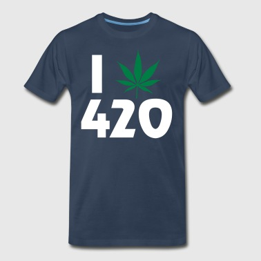 I Pot Leaf 420 - Men's Premium T-Shirt