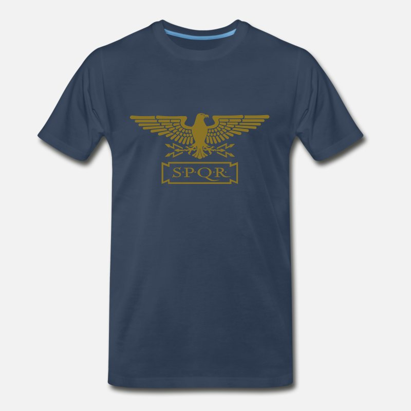 Eagle T-Shirts - EAGLE OF S.P.Q.R. - Men's Premium T-Shirt navy
