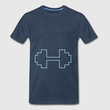 dumbbells - Men's Premium T-Shirt
