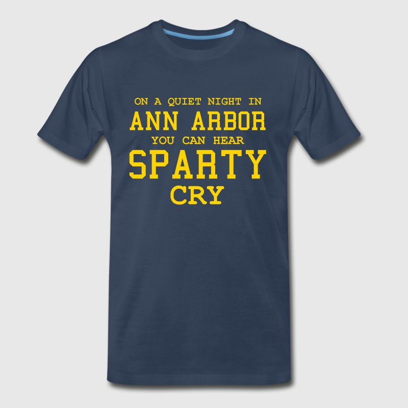 Quiet night in Ann Arbor - Men's Premium T-Shirt