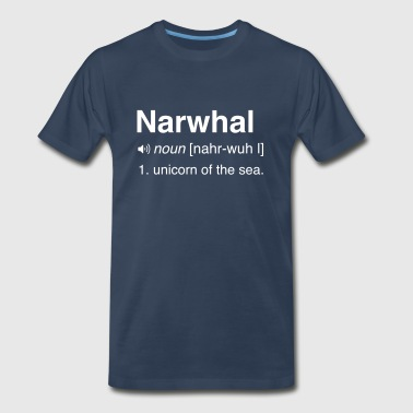 Narwhal. Unicorn of the sea - Men's Premium T-Shirt