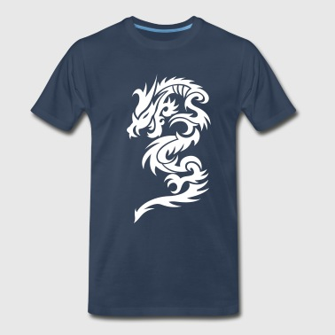 Dragon Tribal Tattoo 10 - Men's Premium T-Shirt