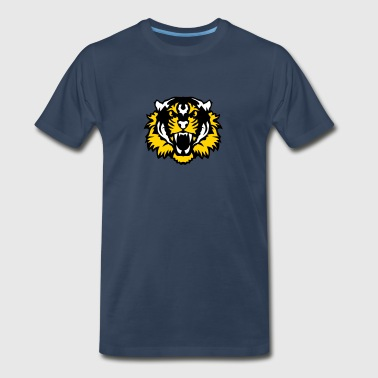 tiger head 10095 wild animals - Men's Premium T-Shirt