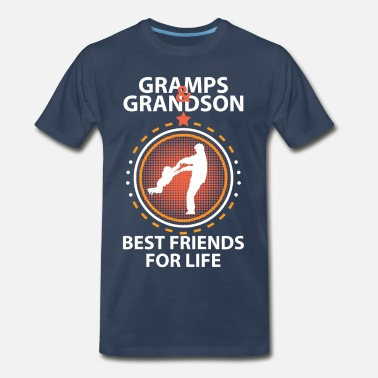 Best Grandson Ever Gramps And Grandson Best Friends For Life - Men's Premium T-Shirt