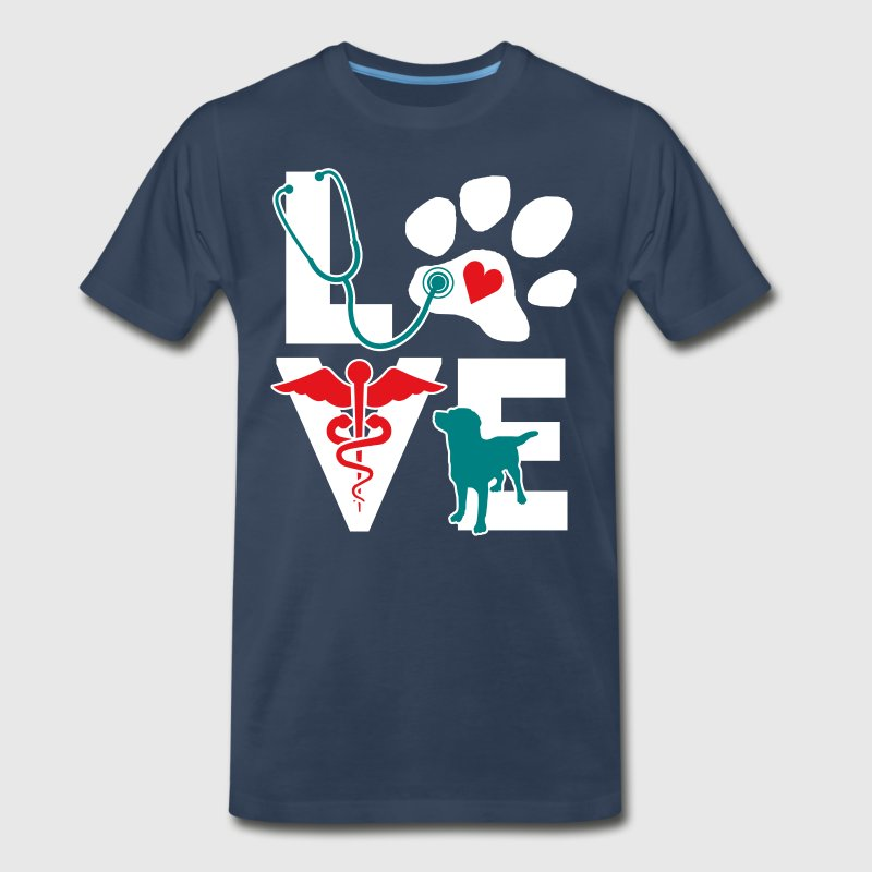 LOVE teal - Men's Premium T-Shirt