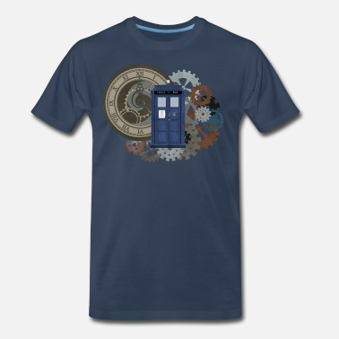 Dr Who Time Travel 2 - Men's Premium T-Shirt
