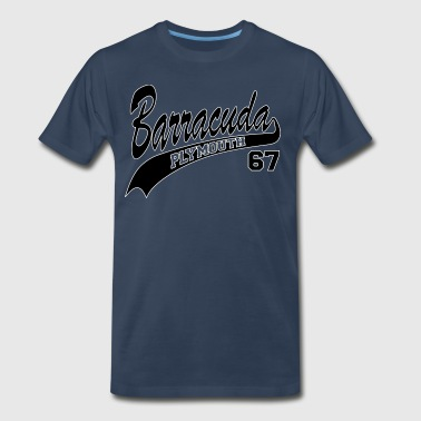 67 Barracuda - White Outline - Men's Premium T-Shirt