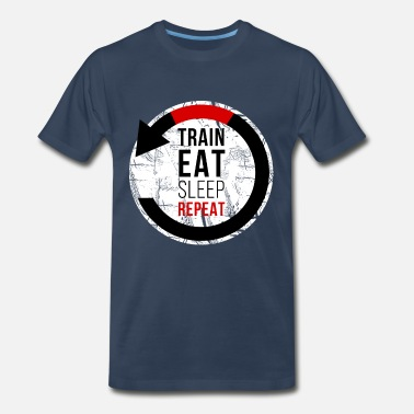 Jiu Jitsu Train Eat Sleep Repeat Jiu Jitsu T-shirt - Men's Premium T-Shirt