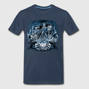 Pachuco Smoke by RollinLow - Men's Premium T-Shirt