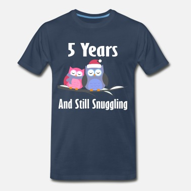 Anniversary 5 Years 5 Year Anniversary Owl Couple - Men's Premium T-Shirt