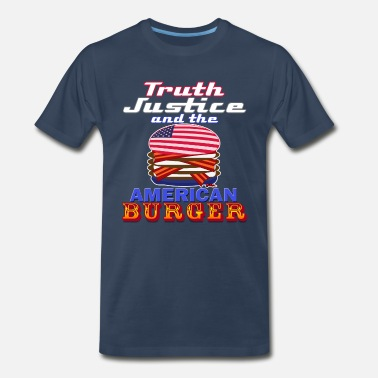 Truth Justice Truth Justic and the American Burger - Men's Premium T-Shirt