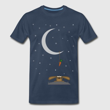 bunny hare rabbit moon carrot night hill jackass s - Men's Premium T-Shirt