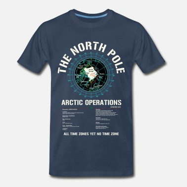North Pole Workshop The North Pole - Arctic Operations Tee - Men's Premium T-Shirt