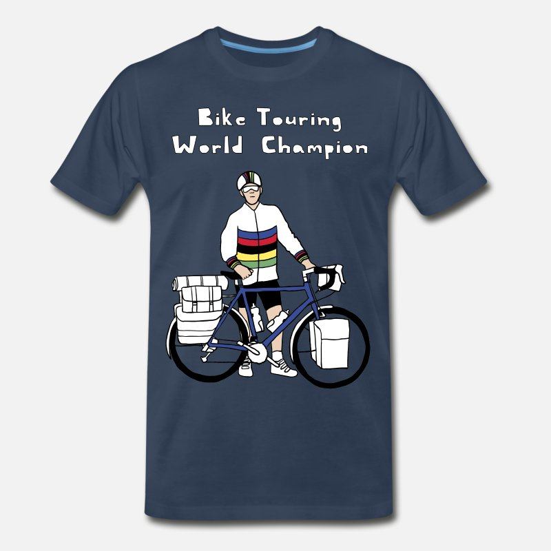 Tour T-Shirts - Bike Touring World Champion - Men's Premium T-Shirt navy