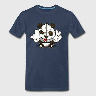 Panda - Fuck/Peace - Men's Premium T-Shirt