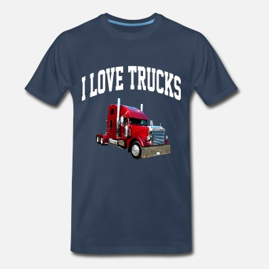 Semi Big Rig i_love_trucks - Men's Premium T-Shirt