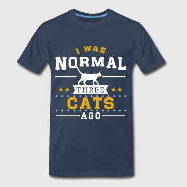 I Was Normal 3 Cats Ago - Men's Premium T-Shirt