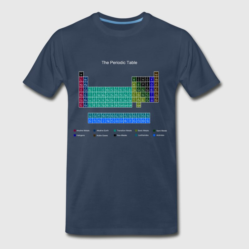 Blue Stylish Periodic Table of Elements - Men's Premium T-Shirt