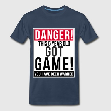 Danger This 6 Year Old Got Game - Men's Premium T-Shirt
