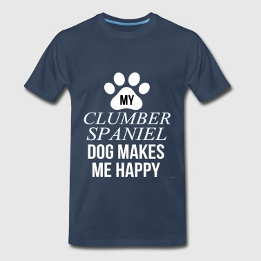 Clumber Spaniel My Clumber Spaniel Makes Me Happy - Men's Premium T-Shirt