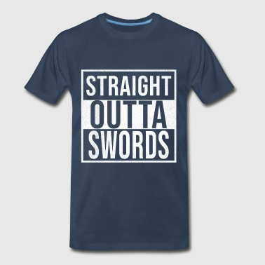 Paddys Straight Outta Swords - Men's Premium T-Shirt