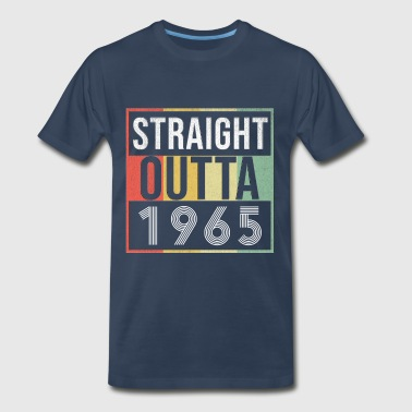 53 Birthday Gift Straight Outta 1965 - Men's Premium T-Shirt