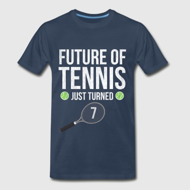 7 Year Old Future Of Tennis Just Turned 7 - Men's Premium T-Shirt